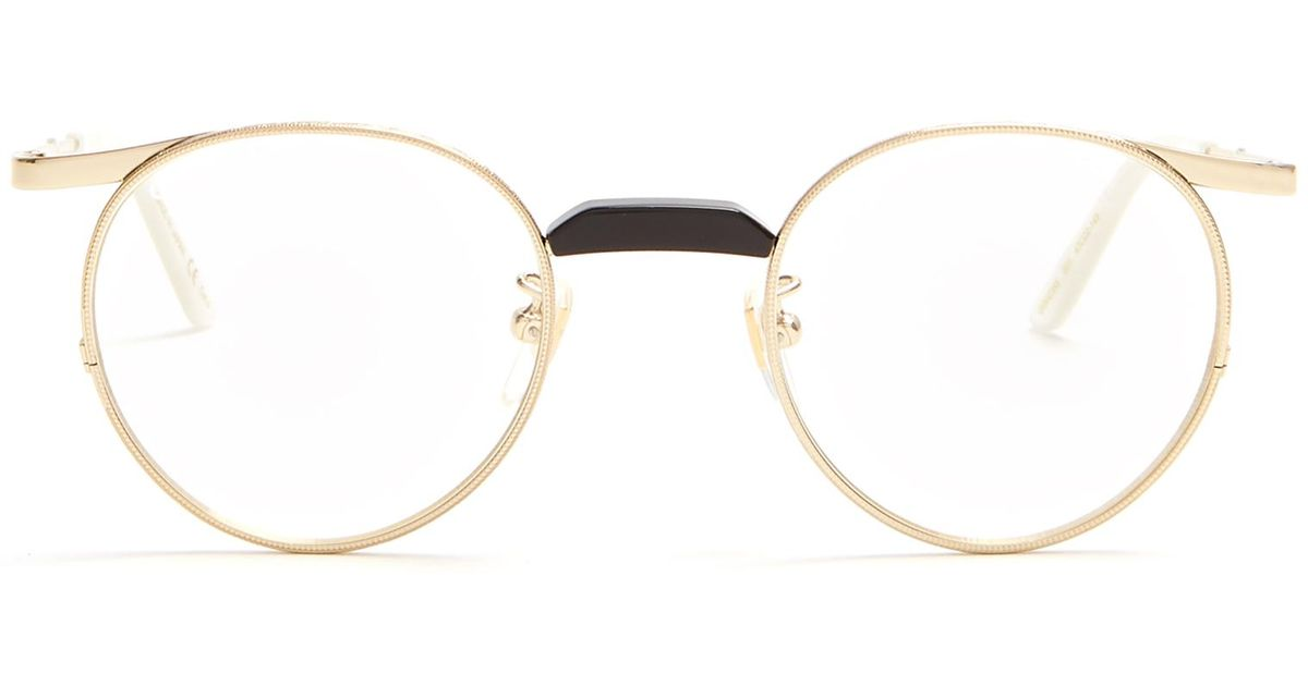 8331a145455 Lyst - Gucci Round-frame Metal Glasses in Metallic