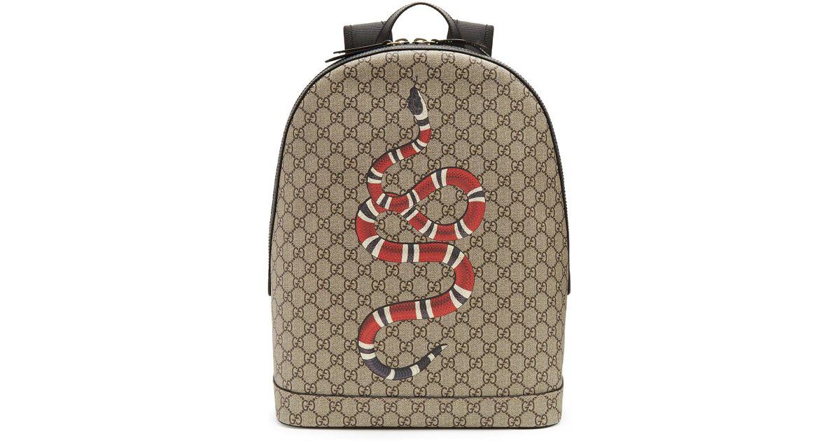 Lyst - Sac à dos en toile à imprimé Kingsnake Suprême GG Gucci pour homme 3e77466f664