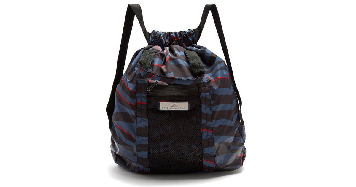 5b2f1994a1 adidas By Stella McCartney Gym Backpack in Blue - Lyst