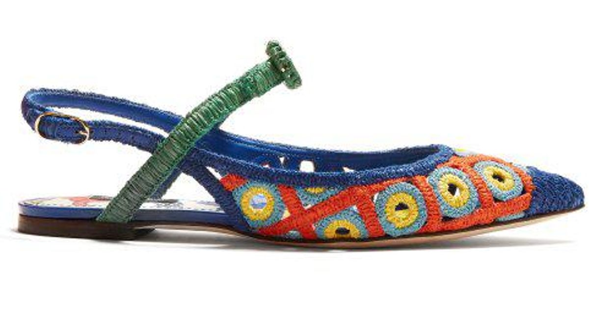 Majolica woven-wicker slingback pumps Dolce & Gabbana t1miNnwfMj