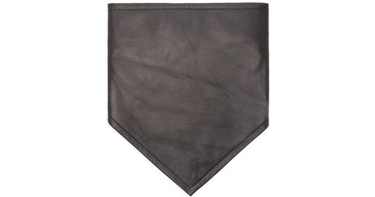Logo-embroidered leather bandana CALVIN KLEIN 205W39NYC Czkar