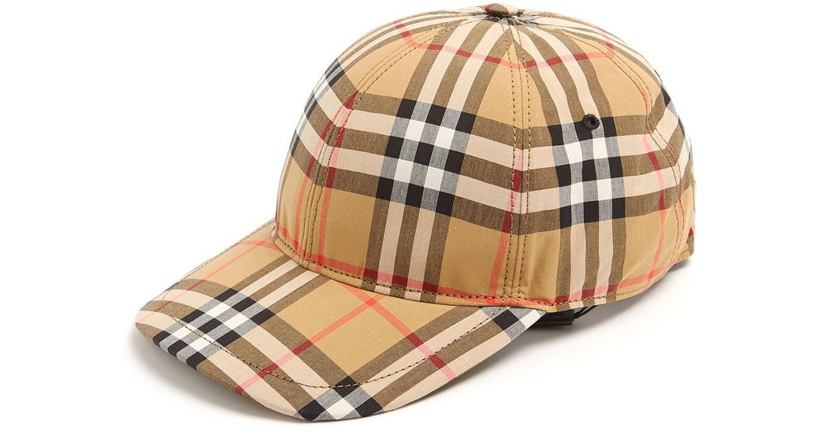 Burberry House-checked Cotton Cap in Natural for Men - Lyst 436109651adf