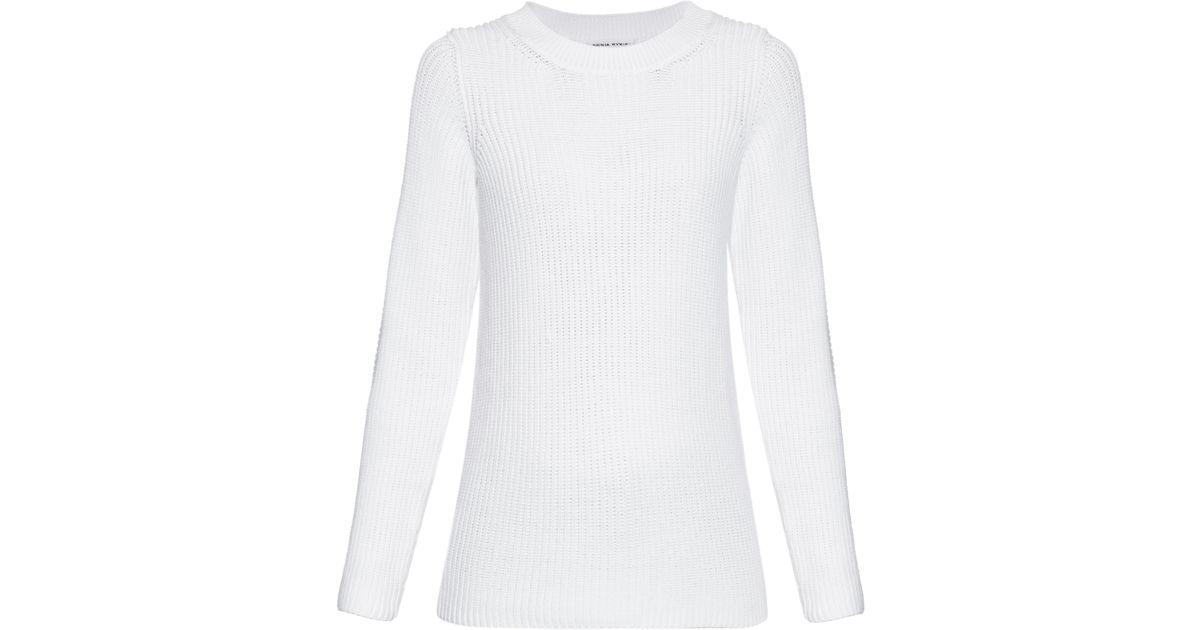 d9cfab626917 sonia-rykiel-white-Chunky-Knit-Back-Overlay-Sweater.jpeg