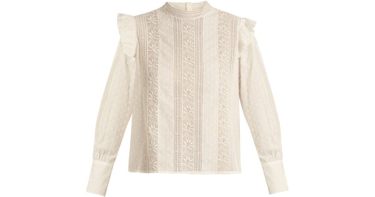 Sast Sale Online Stand-collar fil-coupé cotton top Masscob Sale Get To Buy UBKdb