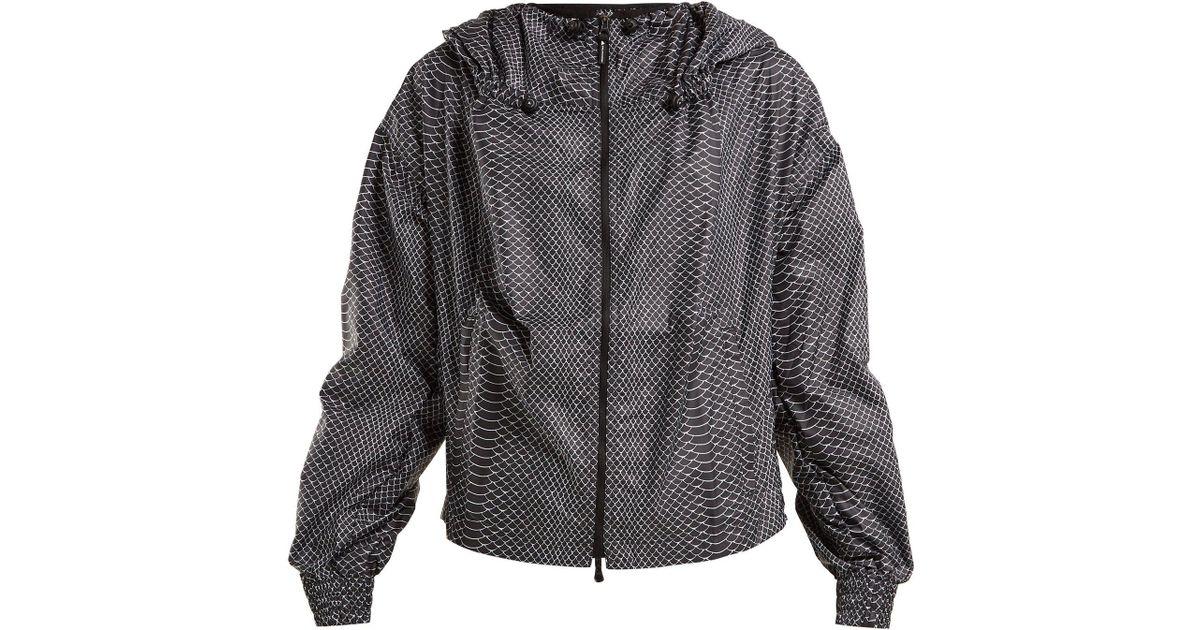 372d36ba0498b Lyst - adidas By Stella McCartney Run Adizero Gathered Performance Jacket  in Black