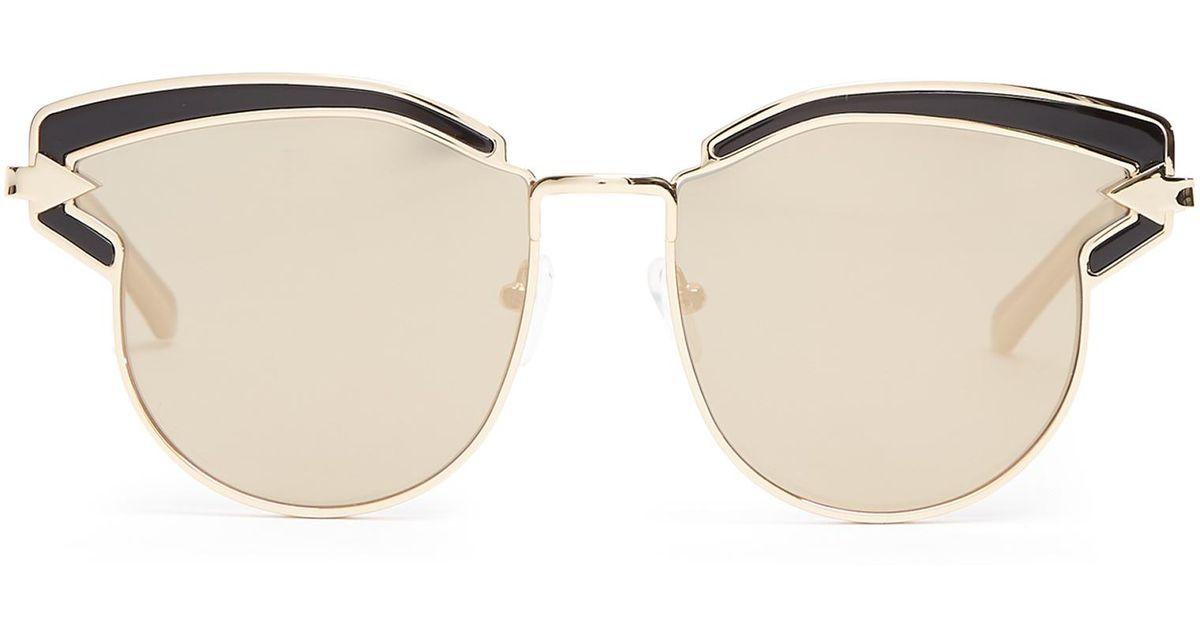 60ee310eb640 Lyst - Karen Walker Felipe Cat-eye Sunglasses in Metallic