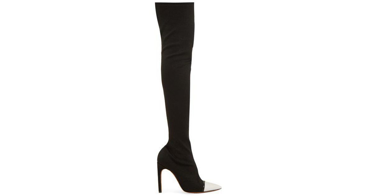 597c4a1b84df Givenchy Ribbed-knit Over-the-knee Boots in Black - Lyst