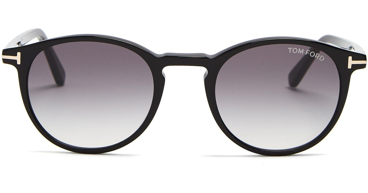 946678efd64 Tom Ford Eric Round Frame Sunglasses in Black for Men - Lyst