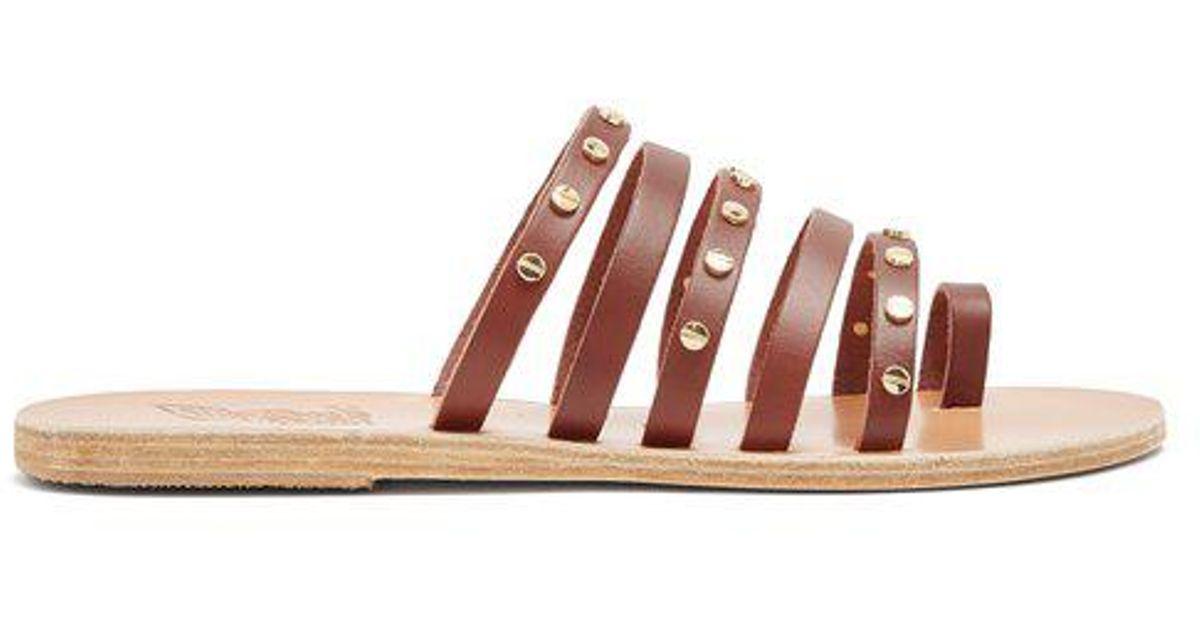 0b61c868ffa510 leather Greek Sandals Nails sandals embellished Ancient Niki ...