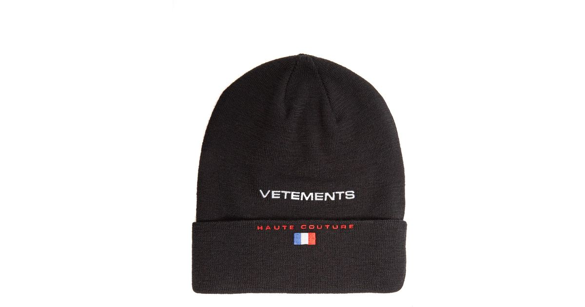 70c86dcf7b7 Lyst - Vetements X Reebok Wool Beanie Hat in Black for Men