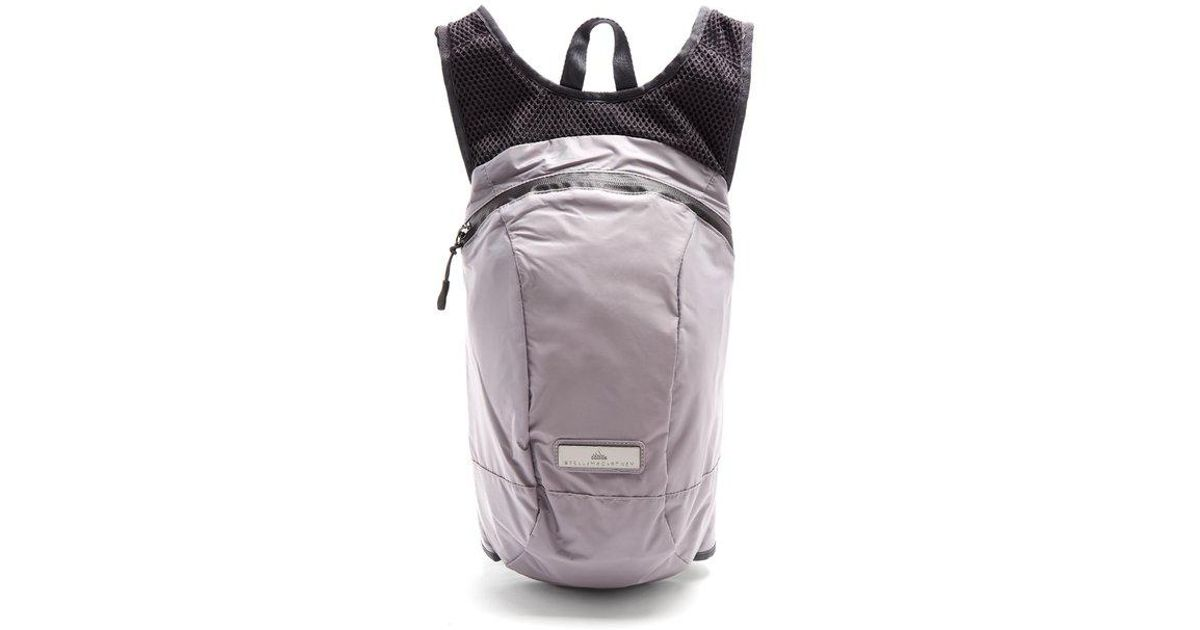 572a0583df5d Adidas By Stella Mccartney Adizero Running Backpack in Gray - Lyst