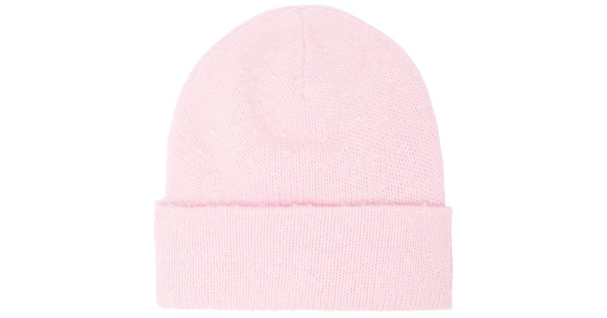 afccf0bd5f0 Lyst - Acne Studios Pilled Wool Blend Beanie Hat in Pink for Men