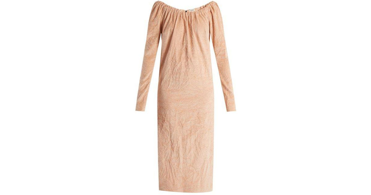 Isa Arfen - La Femme Crushed Velvet Dress - Womens - Light Pink - Lyst 12f9d7450