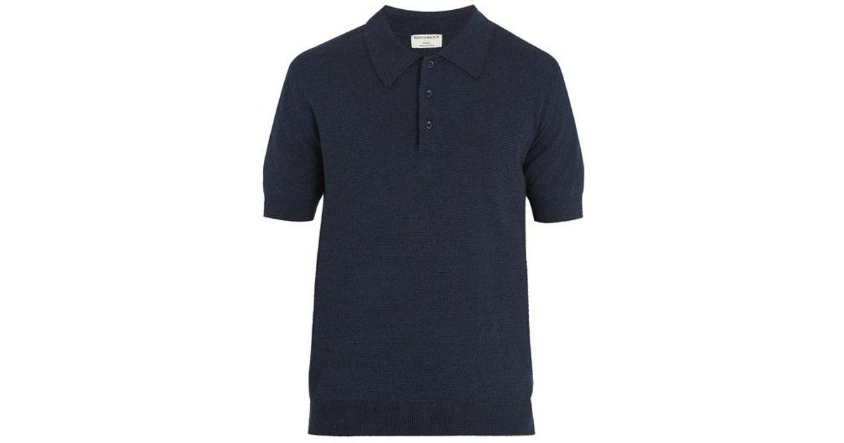0b6aa2c940e3 Lyst - Éditions MR Positano Cotton-knit Polo Shirt in Blue for Men