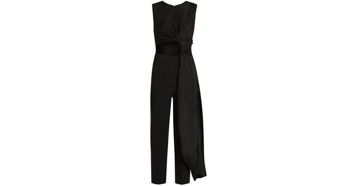 8cb24f50e3ff Lyst - ROKSANDA Woman Cropped Jumpsuits Black in Black - Save  47.67080745341615%