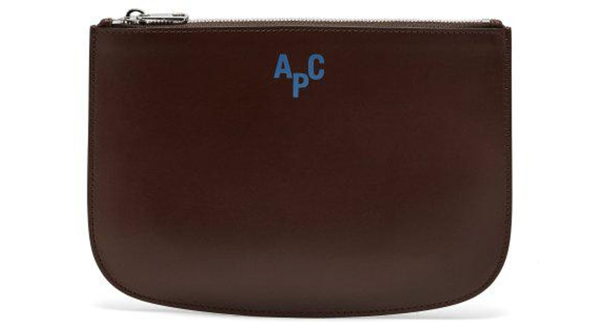 A.P.C Jayson logo-embellished leather pouch Sale Largest Supplier Discount Wholesale Price Cheap Sale Clearance Store Best Prices Online cgvOYp