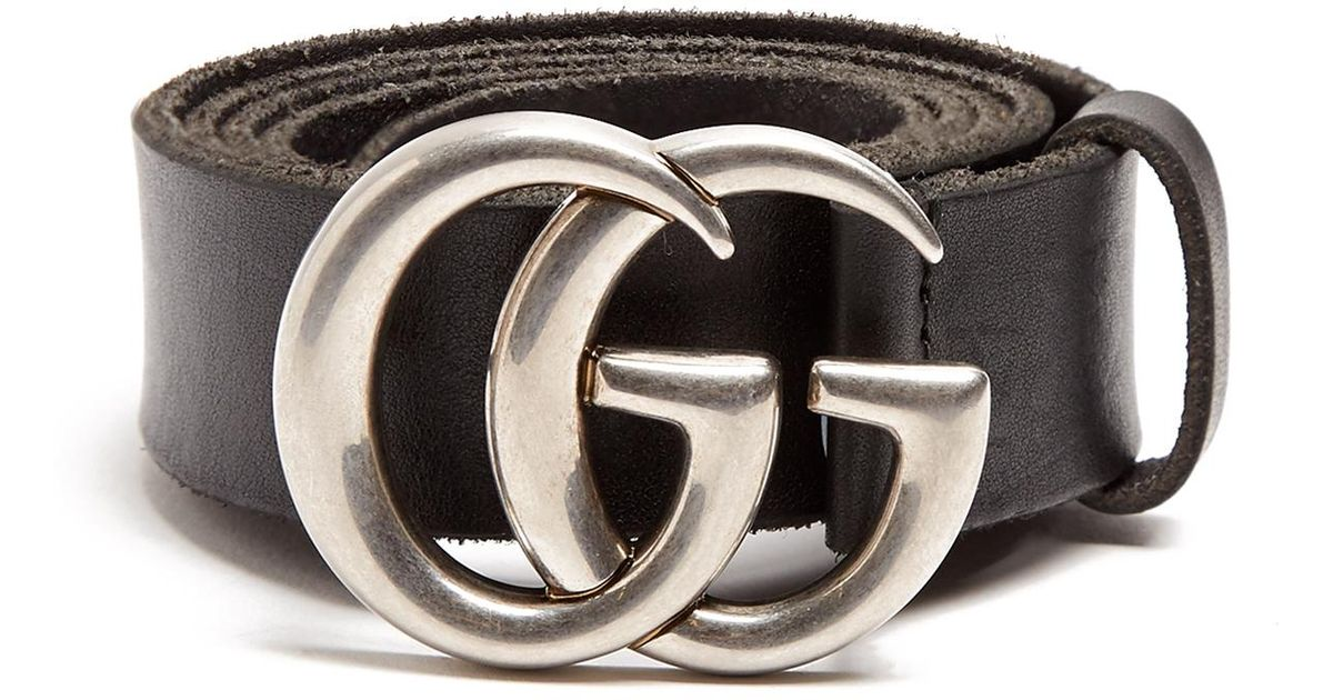 f9d20223403 Lyst - Gucci Gg Marmont Leather Belt in Black for Men