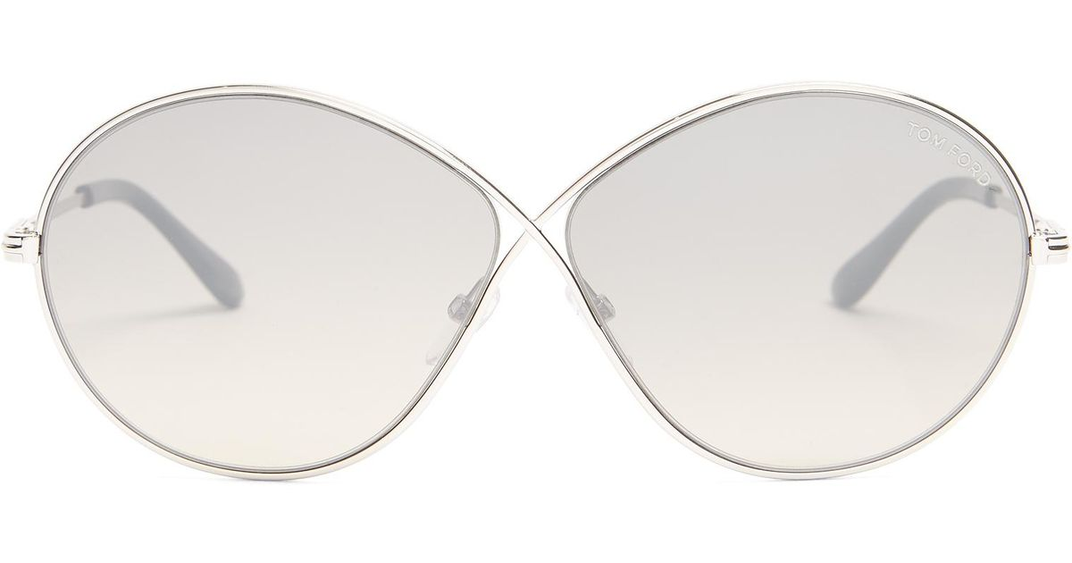 197fe796be Tom Ford Liora Round-frame Sunglasses in Gray - Lyst