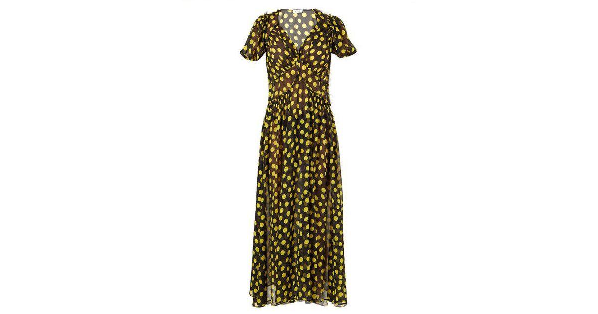 7c2952c740 attico-BLACK-YELLOW-Polka-dot-Silk-chiffon-Dress.jpeg