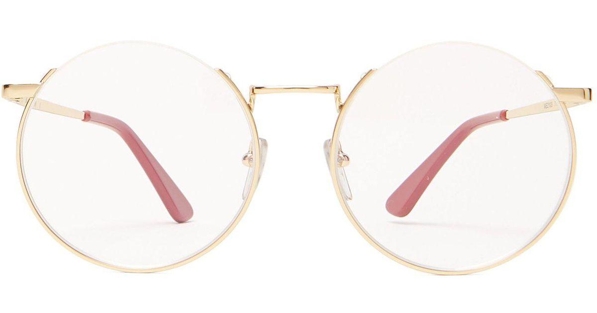 8920ea5bb47 Lyst - Marni Oversized Round Frame Glasses in Metallic