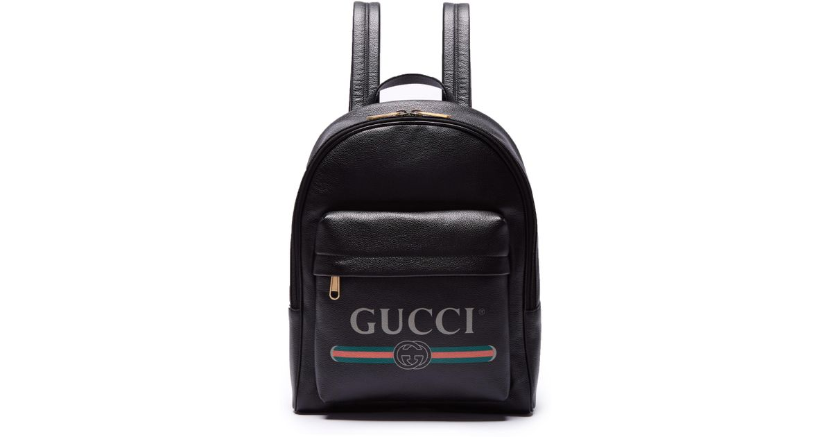 77219e3bde4faa Gucci Logo-printed Backpack in Black for Men - Save 3% - Lyst