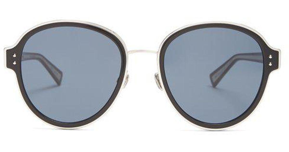 4b275e7bf78b Dior Celestial Round Frame Sunglasses in Black - Lyst