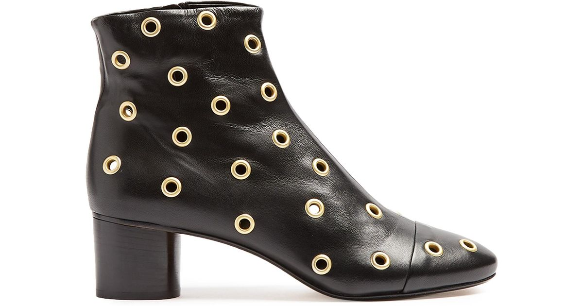 Isabel Marant Danay Embellished Leather Ankle Boots sale clearance shop offer online YSMSnSlfW