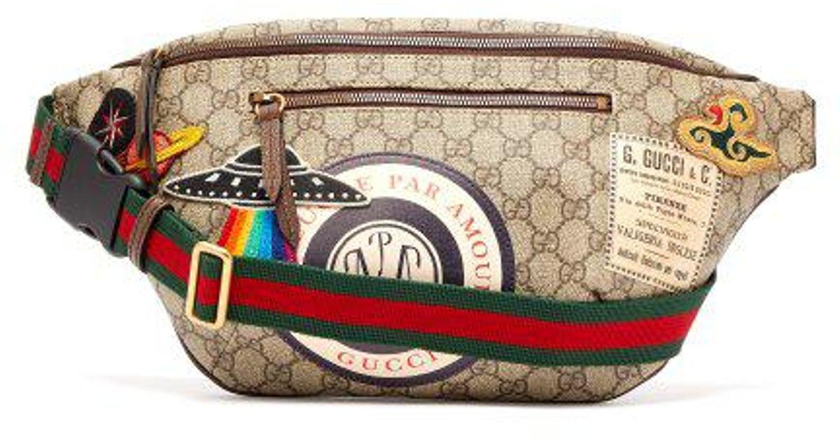 5da1e9b8fc2d Gucci Courrier Gg Supreme Belt Bag in Brown for Men - Lyst