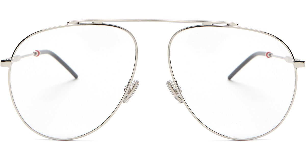 fabfcd7265 Dior Homme Aviator Metal Glasses in Metallic for Men - Save 3% - Lyst
