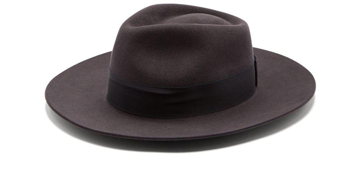 04bfe97fee2 Lyst - Hillier Bartley X Lock   Co. Portobello Felt Fedora Hat in Gray
