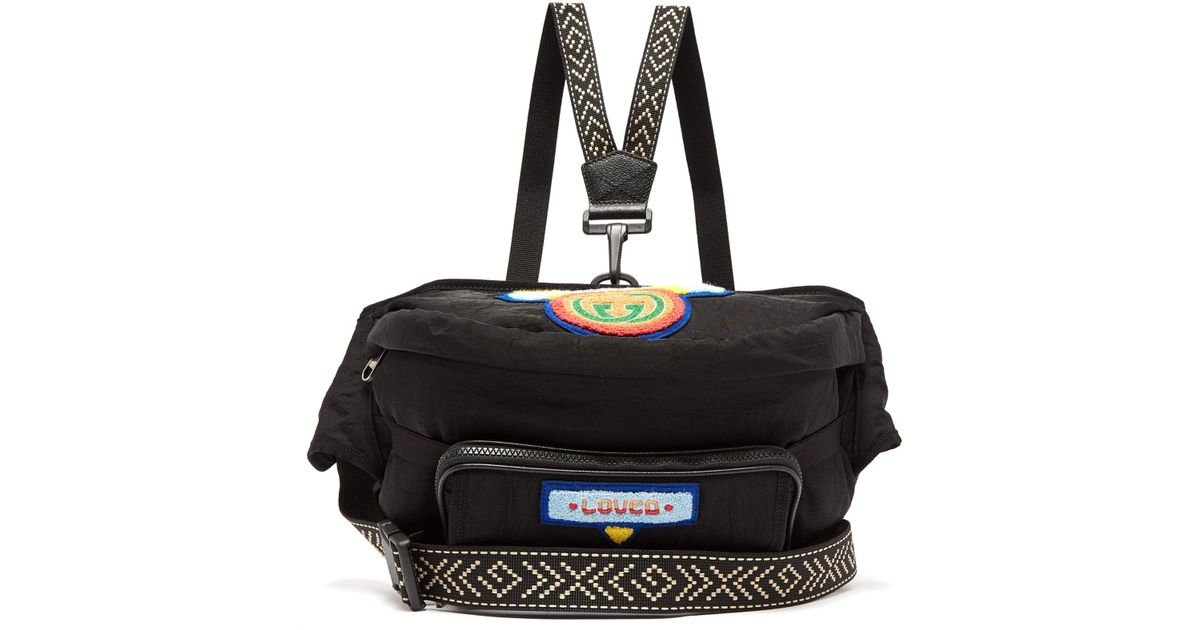 Lyst - Sac ceinture à appliqués en chenille Loved Gucci pour homme en  coloris Noir 5b6e5bc6d95