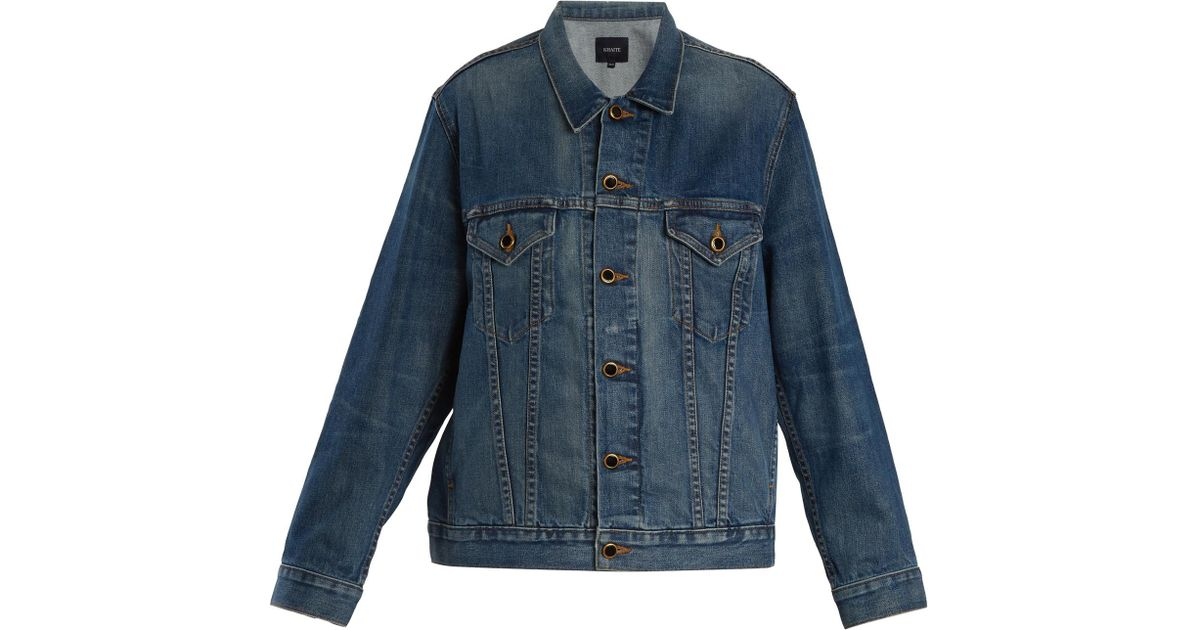 77ac67368c Lyst - Khaite Cate Oversized Denim Jacket in Blue - Save 3%