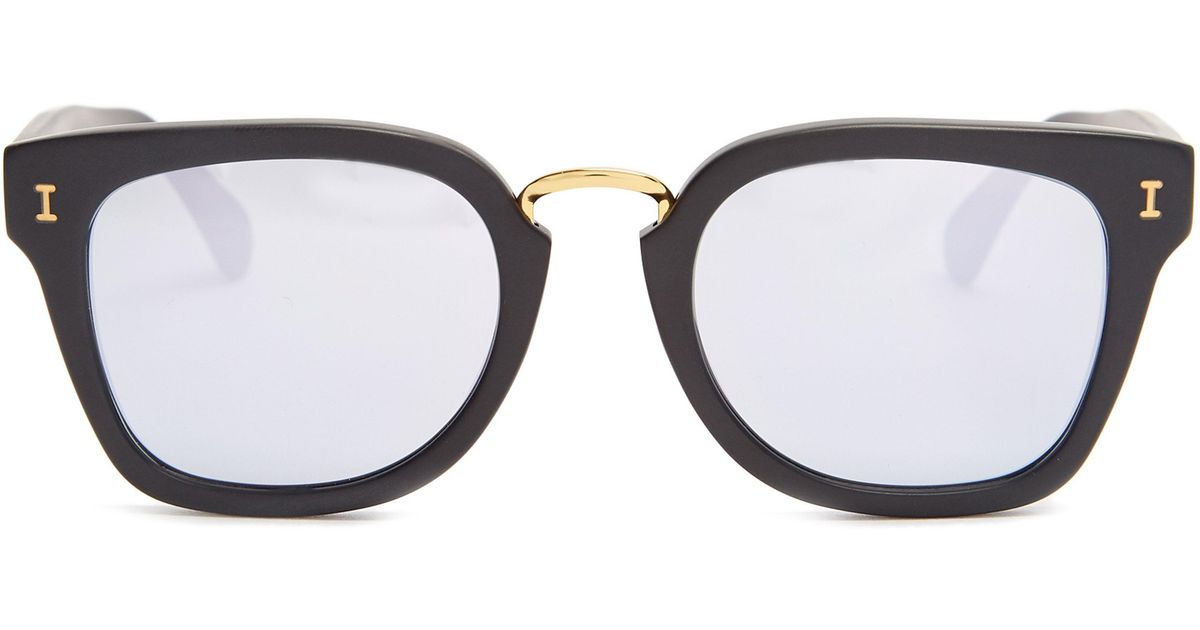 665352319b Illesteva Positano Rounded Square Acetate Sunglasses in Black for Men - Lyst