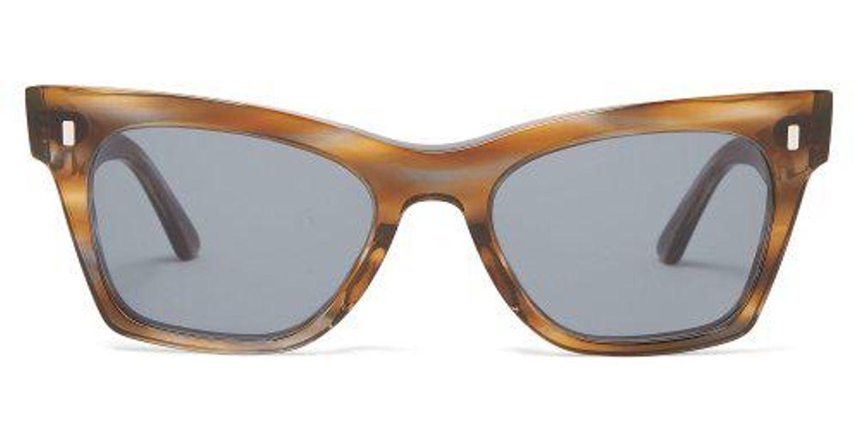 e88b9bd7cfaa2 Céline Rectangular Cat-eye Acetate Sunglasses - Lyst