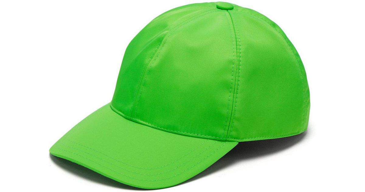 cfff14529ef7f Prada Logo Plaque Baseball Cap in Green for Men - Lyst