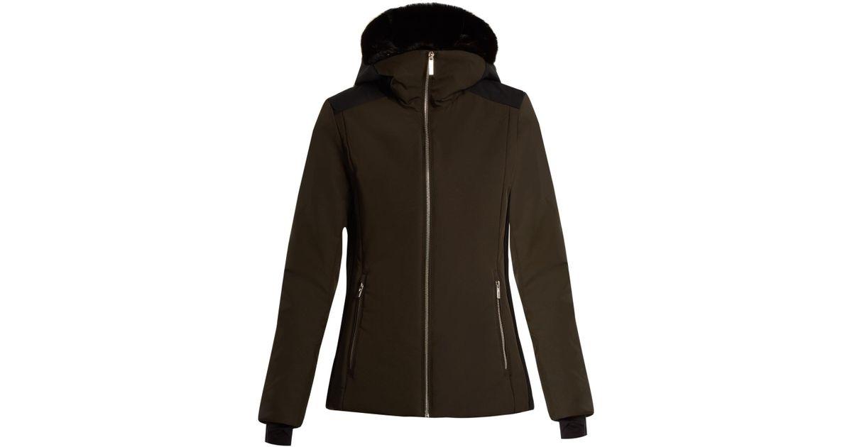 f94b922d897 Fusalp Carole Ii Fur-trimmed Hooded Ski Jacket in Green - Lyst