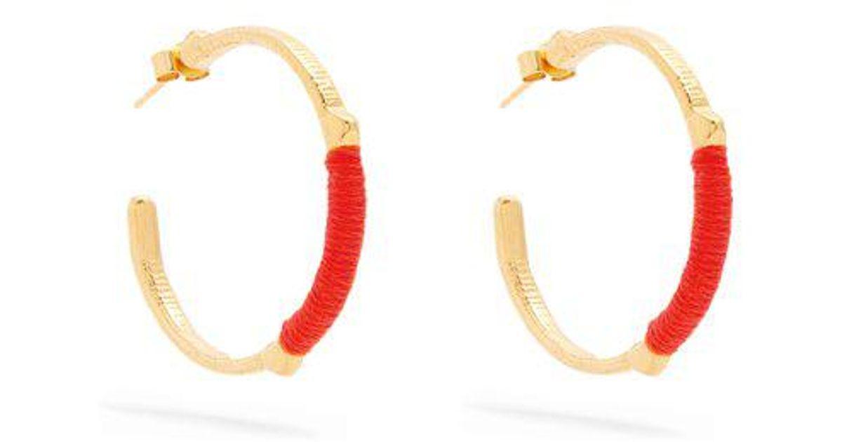 Dido embroidered hoop earrings Marte Frisnes PLT6v