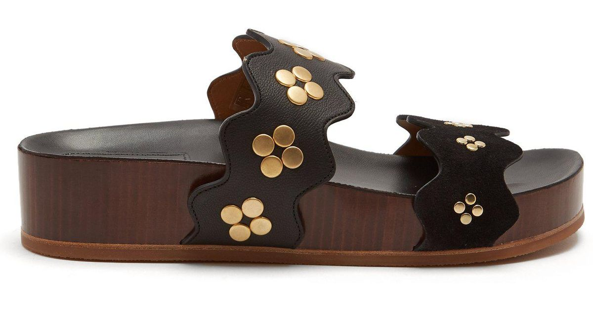 best service f754a 4a6a8 chloe-black-gold-Lauren-Double-Strap-Leather-Flatform-Sandals.jpeg