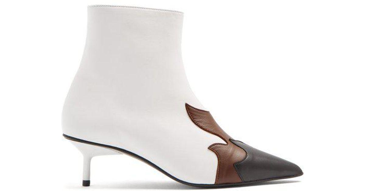 Boots Ankle Appliqué Flame Leather Marques'almeida Lyst qwxpR661