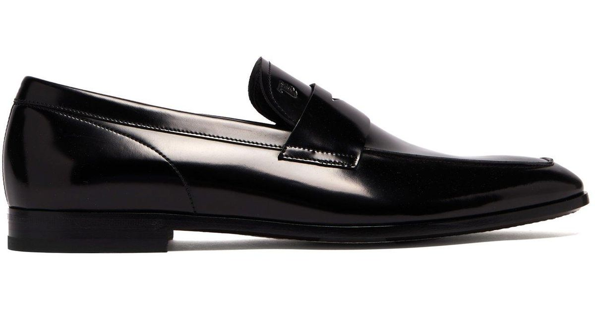 8f623e6d1fd Lyst - Tod s High Shine Leather Penny Loafers in Black for Men