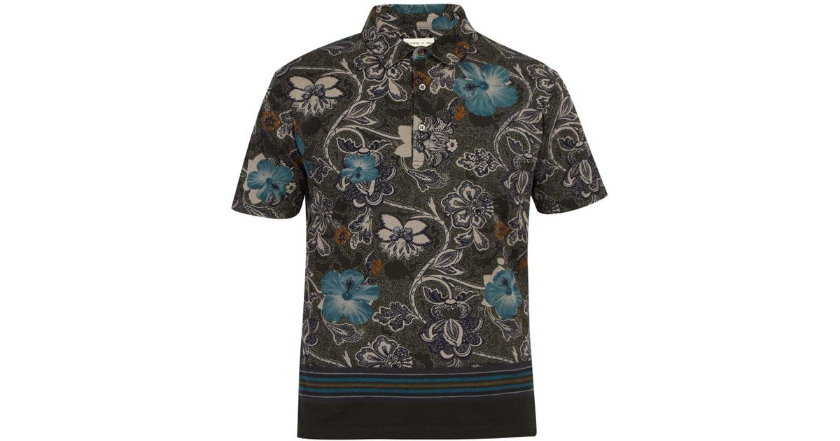 4966d000ae34d Etro Hawaiian Paisley Print Cotton Piqué Polo Shirt in Green for Men - Save  50% - Lyst