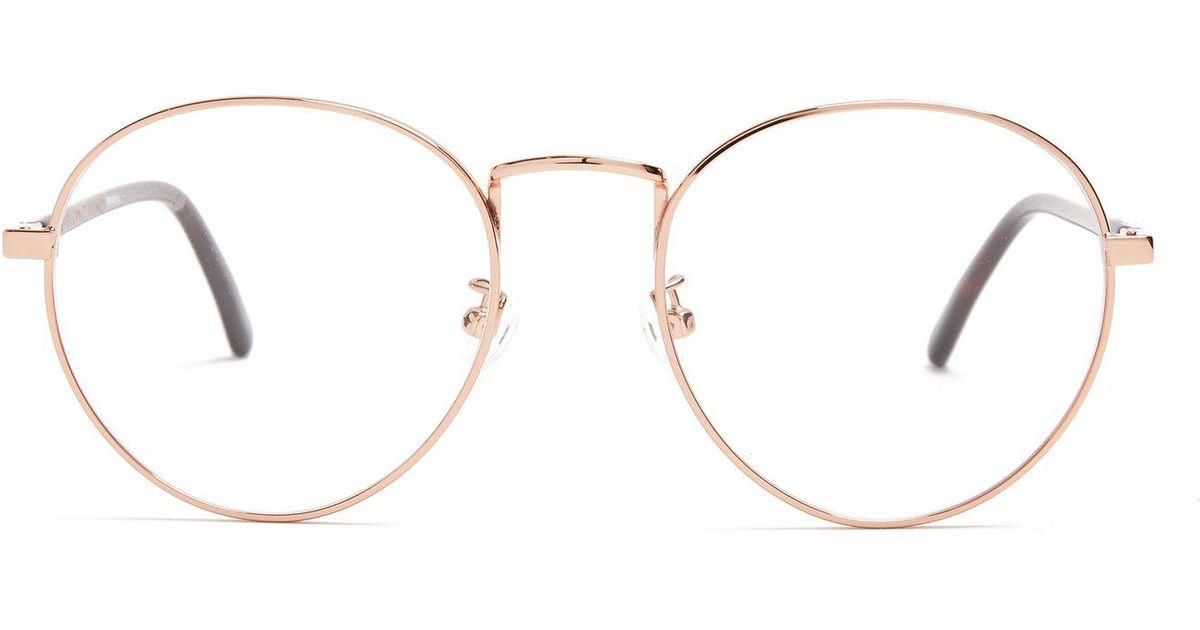 55494695fc0e9 Stella McCartney Round-frame Metal Glasses in Metallic - Lyst