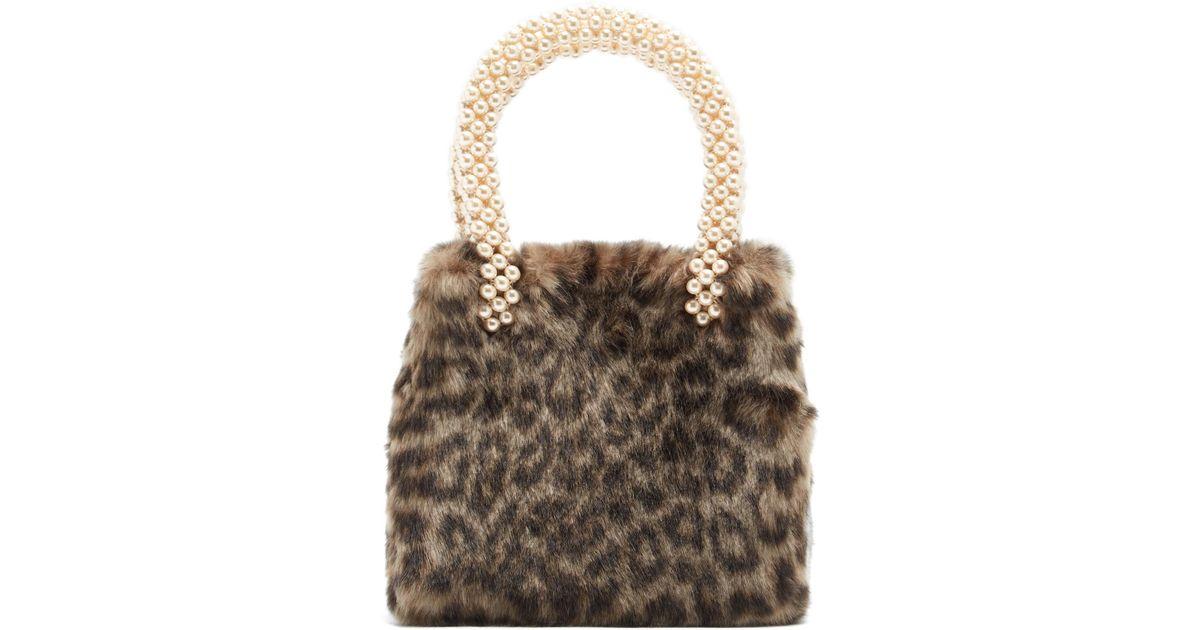 Lyst - Shrimps Una Leopard-print Faux-fur Bag e5df9e54e9be4