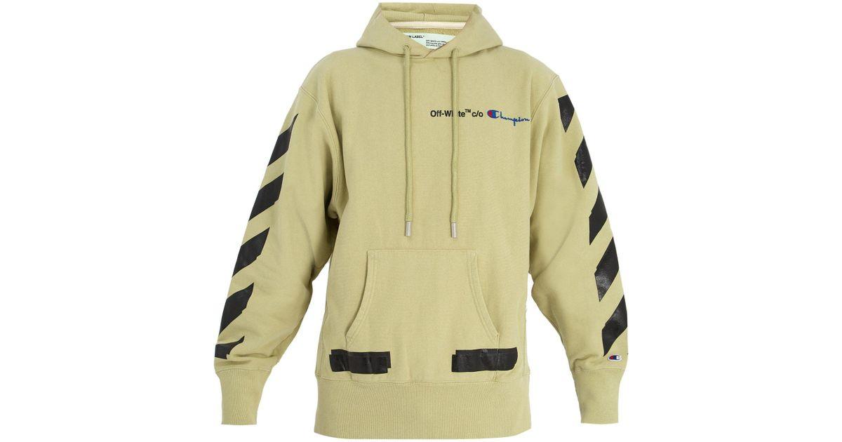 81ace3decf97 Lyst - Sweat-shirt en coton à capuche X Champion Off-White c o Virgil Abloh  pour homme