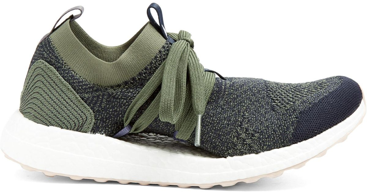 Lyst - adidas By Stella McCartney Ultra Boost X Parley Knitted Trainers in  Green 8bbaf8da09980