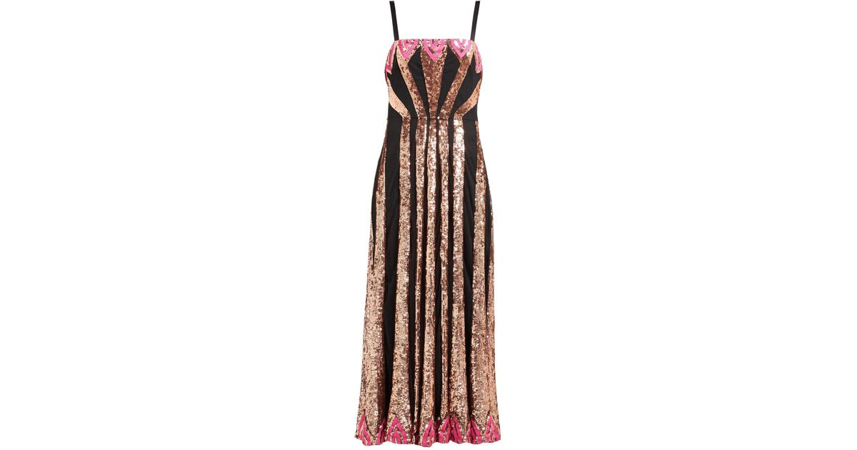 393015bb08c Lyst - Temperley London Sycamore Sequinned Mesh Dress
