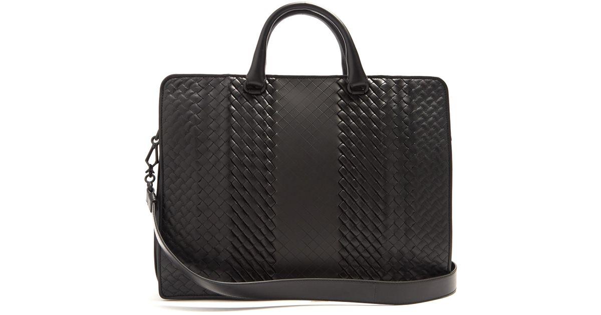 6dfa9cff4e5c Bottega Veneta Intrecciato Imperatore Leather Briefcase in Black for Men -  Lyst