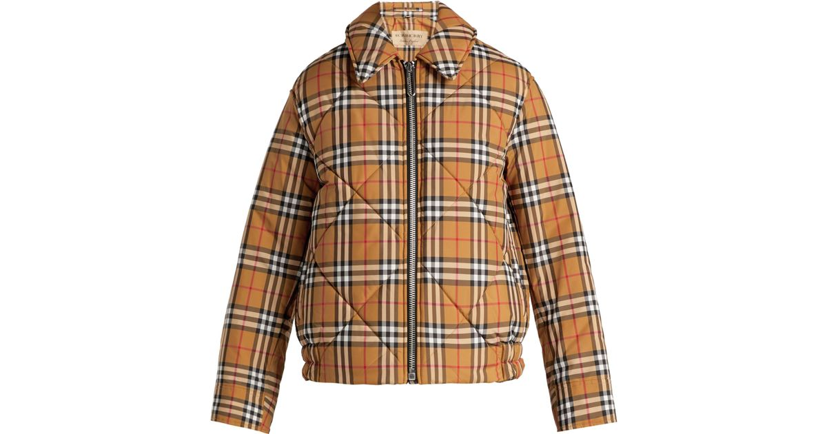 7c0c5f04c Burberry Multicolor Knowstone Quilted Vintage-check Bomber Jacket