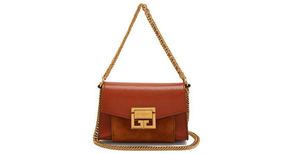 93e6a73138e ... Lyst - Givenchy Gv3 Nano Suede And Leather Belt Bag in Brown buy online  d08d4 59ea8 ...