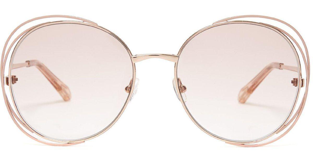7f50821e54727 Lyst - Chloé Carlina Round-frame Glasses
